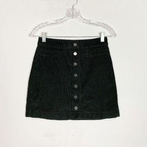 Wilfred Aritzia   button front a-line skirt black